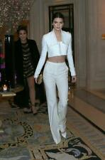 Balmain White Cropped blazer Jacket FR40 UK10 12 As kendall jenner