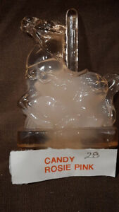 Boyd Crystal Art Glass ~ Candy the Carousel Horse #28 Rosie Pink ~ 1st Series