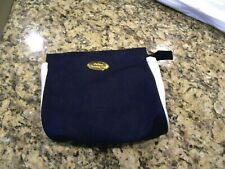 Christian Dior navy blue and white cosmetic bag/makeup bag