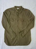 SEED HERITAGE Women's Green Khaki 100% Cotton Shirt Blouse. Long Sleeved. Size 6