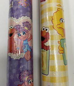 Sesame Street Wrapping Paper 2014 RARE ELMO ABBY Baby Shower 5 ft x 30 in NEW