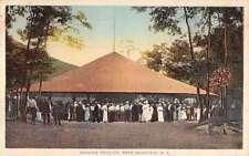 Bear Mountain New York Dancing Pavilion Scene Antique Postcard K31870