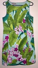 Tommy Bahama Dress Women's Size 10 Stretch Silk Lined Sleeveless Green Floral