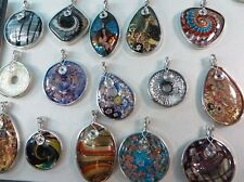 *US Seller*wholesale 10 lampwork Glass Pendants Glass DIY scarf charm jewelry