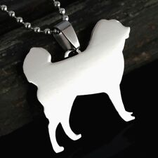 Solid Stainless Steel Tibetan Mastiff Pet Dog Charm Pendant +Free Chain Necklace