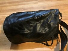AUTHENTIC CHANEL SPORTS BLACK VINYL MESSENGER LARGE BAG