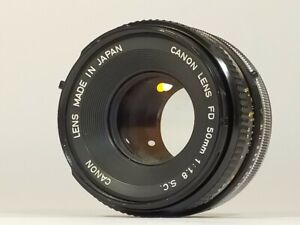 [Excellent+3] CANON FD 50mm F/1.8 S.C. SC MF Film Camera Lens from JAPAN