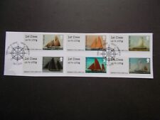 GB~2015~Post & Go Stamp Labels~Working Sail~VFU Set~on piece~P&G 18~ex fdc~UK