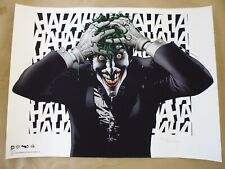 More details for batman giclee print 'the joker' signed by brian bolland 16 of just 200! free p&p