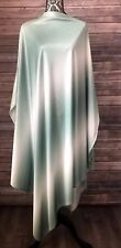 Vintage Poncho Green White Ombre Handmade Cover Up Full Length
