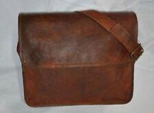 New Men Distressed Leather Messenger Shoulder Bag Cross Body Laptop Briefcase
