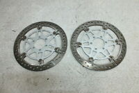 2005-2006 DUCATI MULTISTRADA 620 FRONT LEFT RIGHT BRAKE ROTORS DISCS