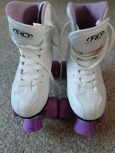 Womens Roller Derby Roller Star 550 Skates White & Purple Size 6