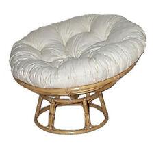 Poltrona giardino esterno Papasan fibra naturale Rattan con cuscino - OFFERTA
