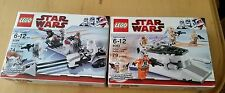 Star Wars Lego 8083 Rebel Trooper Battle Pack 8084 Snow trooper Battle Pack