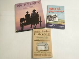 Lot of 3 Books - Amish Country-Rural Beginnings-Barns, Shed & Outbuildings.