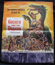GOLIATH AND THE DRAGON press book MARK FOREST sword & sandal HUGE