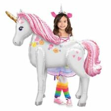 "Magical Unicorn Party Giant Airwalker Foil Balloon Helium Air Decoration 46"" tal"