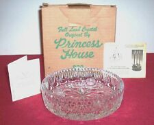 PRINCESS HOUSE LEAD CRYSTAL TAPERED CANDLE HOLDER (ORIGINAL BOX & PAPERWORK)