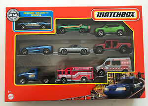 2021 MATCHBOX 9 Pack (Exclusive Police Mustang, Nissan Skyline 2000GTX, 914) New