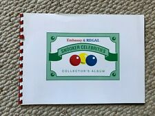 More details for set of 18 x embassy & regal snooker celebrities cards in official album