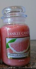 Yankee Candle  Pink Grapefruit  22 oz   1 Single  NEW  Free Ship