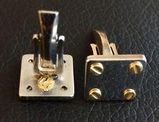 Gemelli Vernizzi Acciaio Oro Vintage Steel and Gold Cufflinks for Shirt Rare