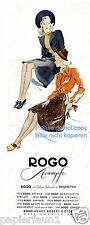 Rogo Strümpfe Oberlungwitz Reklame von 1941 Strumpfhose Nylons Beine Damen Rock