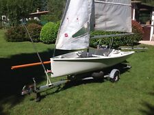 Jolle Dinghy Skiff - 14ft   4,27 m Slipwagen, HARBECK-Trailer, 2 Satz Segel