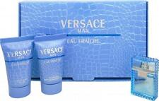 Versace Man Eau Fraiche EDT Perfume After Shave Balm & Shower Gel Mini New