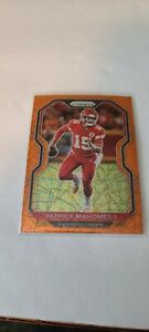 2020 Panini Prizm Patrick Mahomes ll #124 Orange Lazer Prizm Kansas City Chiefs