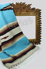 LARGE Diamond Serape Southwestern Mexican Blanket Horse Saddle Yoga Sarape Rug