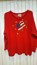 Woman's Quacker Factory 2X Pull-Over Sweater