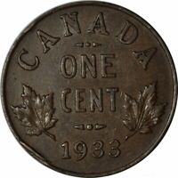 1933 Canada 1 One Cent - Very Nice High Grade Circ Collector Coin! -d1047dth