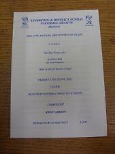 15/06/2001 Liverpool & District Sunday Football League: 49th Annual Presentation