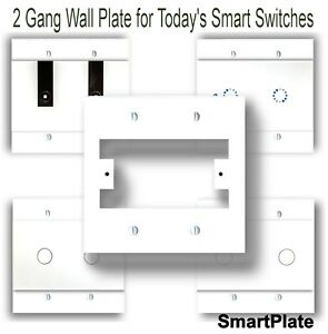 Switch Plate for Smart Switch, Smart Switch Cover Plate, Wall Plate, 2 Gang