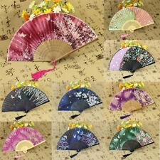 Chinesische Art Tanzhochzeitsfeier Spitze Seidenmischung Faltbare Hand Fan Blume