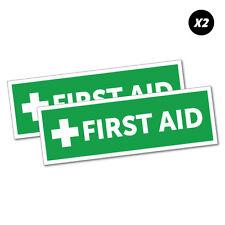 2X First Aid Sticker Decal Safety Sign Car Vinyl