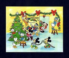 REDONDA - 1983 - DISNEY - CHRISTMAS - DECK THE HALLS - MICKEY - GOOFY MINT S/S!