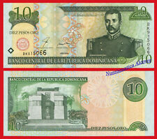DOMINICAN REPUBLIC 10 Pesos oro 2000 Pick 159 Printer F.C. Oberthur SC / UNC