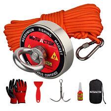 Fishing Magnet Kit Grapping Hook 20m Rope Upto 400lbs Metal Treasure Hunting