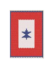 U.S. SERVICE FLAG~PONY BEAD BANNER PATTERN