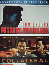 MISSION IMPOSSIBLE + COLLATERAL - NEW SEALED DOUBLE DVD (TOM CRUISE, JAMIE FOXX)