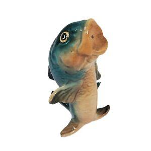 Vintage Brad Keeler BBK California  Fish Salt or Pepper Shaker Pottery Green