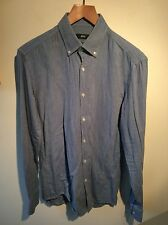 Mens Blue Hugo Boss Shirt Slim Fit Shirt Size 39 15 1/2 Rrp £95