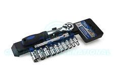 FORD TOOLS 12pc 1/4 Drive Socket & Rail Set - Pro 72t Ratchet (12 Piece)