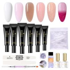 BORN PRETTY 20ml Poly Extension Gel UV Building Nail File Decoration Nail Brush
