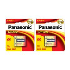 2 Pack Panasonic CR-P2 EL223A DL223 K223LA 6v Photo Lithium Battery