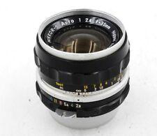 Nippon Nikon NIKKOR-S Auto 35mm F/2.8 Wide Angle Lens MF Non Ai