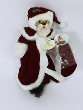 Vintage Robert Raikes Classic Santa Bear Original 1990 Tag Applause Christmas